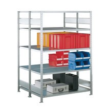 META wide-span rack, double-row, base unit, galvanised