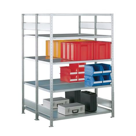 META wide-span rack, double-row, base unit, galvanised
