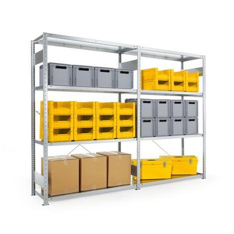 META wide-span rack, single-row, base unit, galvanised