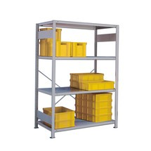 META wide-span rack, single-row, base unit, light grey