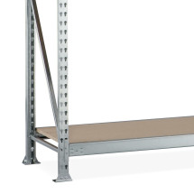 META wide-span rack, with chipboard, add-on unit, galvanised