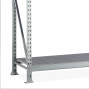 META wide-span rack, with steel panels, add-on unit, galvanised
