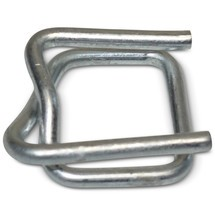 Metal clasps for PET reinforced strapping