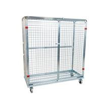 Metallrullcontainer, 5-sidig, stöldsäker