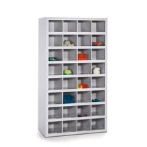 Meuble à casiers PAVOY, 64compartiments de 120x105x220 + 6compartiments de 120x335x220mm + 3compartiments de 120x220x220mm
