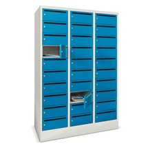 Meuble de tri du courrier PAVOY, 3 x 10 compartiments, H x l x P 1 850 x 930 x 500 mm