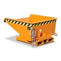 Mini-benne à copeaux avec mécanisme d'aide au basculement, faible hauteur de construction, peinte, volume 0,225 m³