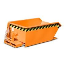 Mini čip kontejner, extrémně nízká konstrukční výška, lakovaný, objem 0,23 m³