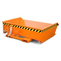 Mini čip kontejner, extrémně nízká konstrukční výška, lakovaný, objem 0,61 m³
