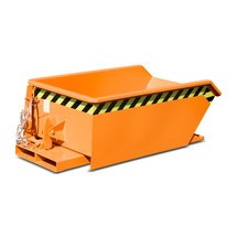 Mini contenedor basculante, altura de construcción extremadamente baja, pintado