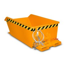 Mini contenitore per trucioli, altezza costruttiva estremamente ribassata, verniciato, volume 0,27 m³