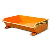 Mini contenitore ribaltabile, altezza costruttiva estremamente ribassata, verniciato, volume 0,61 m³