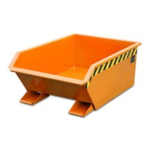 Mini sklápěcí nádrž, extrémně nízká konstrukční výška, lakovaná, objem 0,27 m³