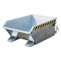 Mini tanque de volcado, altura de construcción extremadamente baja, galvanizado