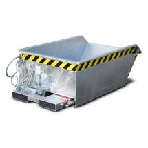 Mini třískový kontejner, extrémně nízká konstrukční výška, pozinkovaný