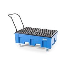 Mobile Auffangwanne für 2x 200-Liter-Fässer