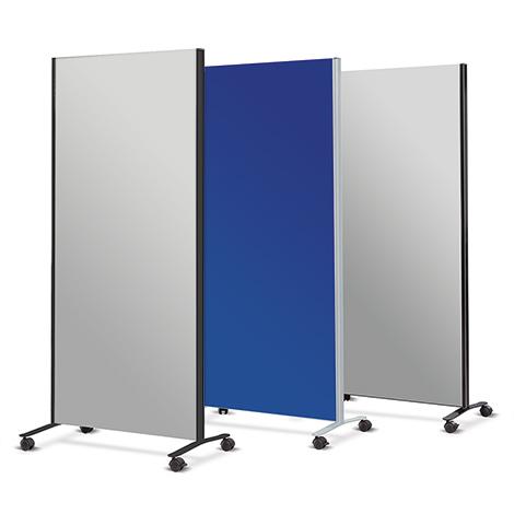Mobile Trennwand: Wand, 2 Holme, Rollensatz
