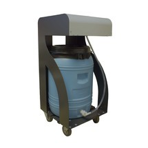 Mobile Wasserbefüllstation für Batterien inkl. 60 l Fass, Pumpe, Batterie, Ladegerät
