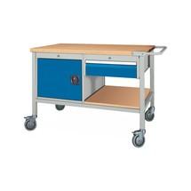 Mobile Werkbank, Schrank, 1 Schublade, TK 400 kg