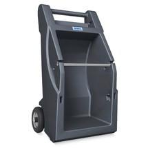 Mobiler Abrollständer für Bindevliese und Putztücher