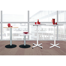Mobiler Säulentisch mit Tellerfuß, höhenverstellbar, ØxH 900x680-1175 mm