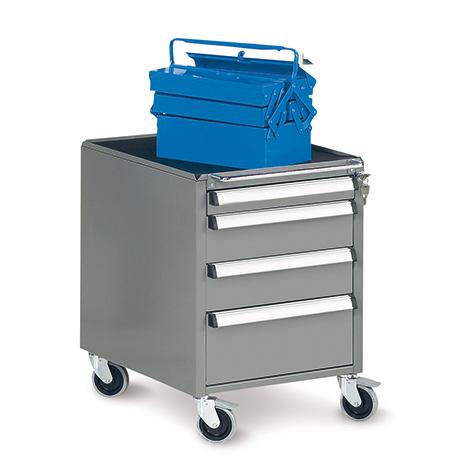 Mobiler Schubladencontainer für Arbeitsstisch, HxBxT 670x490x580mm, 4 Schubladen