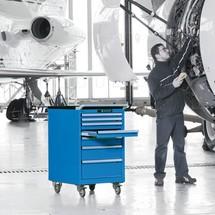 Mobiler Schubladenschrank LISTA, Schubladen 2x75 + 4x100 + 1x150 mm, HxBxT 990 x 564 x 725 mm