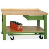 Mobiler Werkbanktisch Premium mit Schublade, TK 850 kg, HxBxT HxBxT 850 x 1.500 x 700 mm