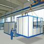 Mobiles Raumsystem für Innen, LxBxH 2045x2045x2680 mm 1050 kg