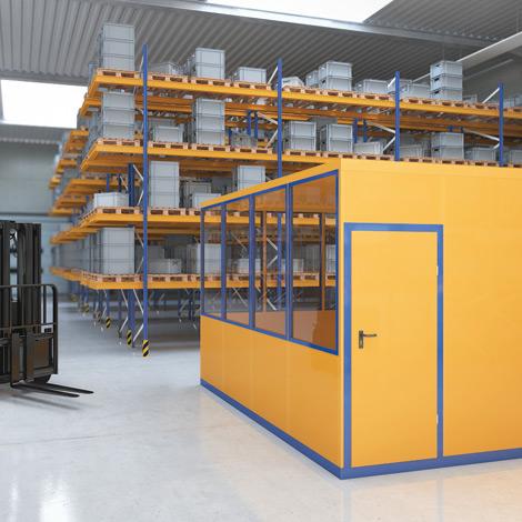 Mobiles Raumsystem für Innen, LxBxH 3045x2045x2680 mm 1350 kg