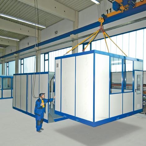 Mobiles Raumsystem für Innen, LxBxH 4090x3045x2680 mm 1850 kg