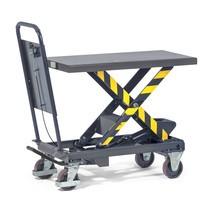 Mobilní nůžkový zvedací stůl fetra® spojistkou proti propadnutí