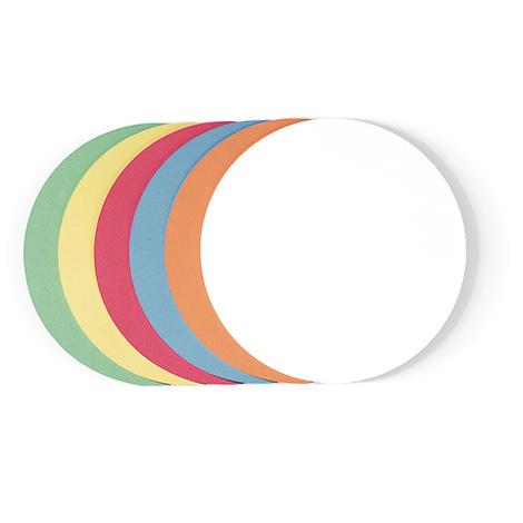 Moderationskarten farblich sortiert, Kreise