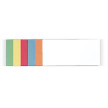 Moderationskarten farblich sortiert, rechteckig