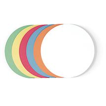 Moderationskarten, Kreis, 9,5 cm, VE = 500 Stück