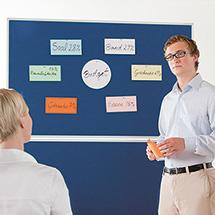 Moderationstafel EVOLUTION PLUS, Rahmen eloxiert, mit Rollen