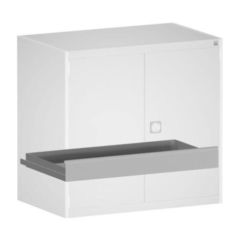 módulo con cajones interno para sistema de puerta con bisagras armario bott cubio