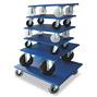 Möbelroller mit Holzplattform. Tragkraft bis 750 kg