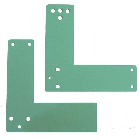 Montageplatte für Einhand-Türwächter, für Glasrahmentür