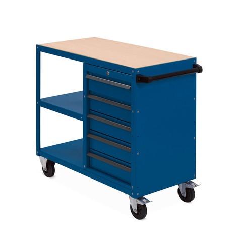 Montagewagen BASIC mit abschließbarem Schubladenblock