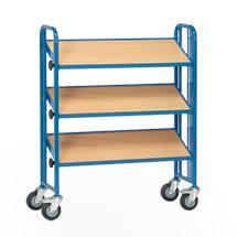 Montagewagen fetra® 1-seitig für Kunststoffkästen. 3 Etagen, Tragkraft 300kg