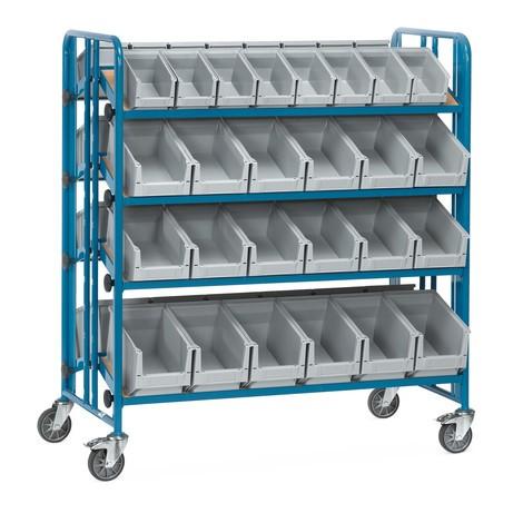 Montagewagen fetra® mit Sichtlagerkästen