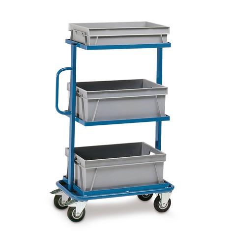 Montagewagen fetra®, offene Rahmen, mit Kästen