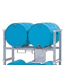 Montowana powierzchniowo półka pośrednia asecos® do beczek