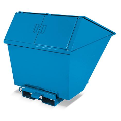 Müllcontainer mit Kippfunktion, Volumen bis 1,1 m³. Tragkraft bis 2000 kg