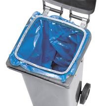 Müllsackhalterung für Kunststoff-Mülltonnen
