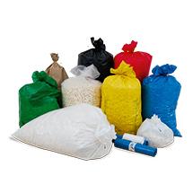 Müllsäcke für Abfallsammler PUSH, rund und eckig