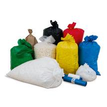 Müllsäcke, LDPE, 670 + 450 x 1600mm, 100 Stück