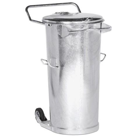 Mülltonne aus feuerverzinktem Stahlblech, 110 Liter