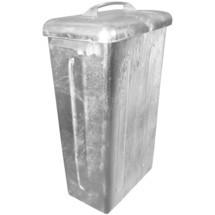 Mülltonne aus feuerverzinktem Stahlblech, 95 Liter
